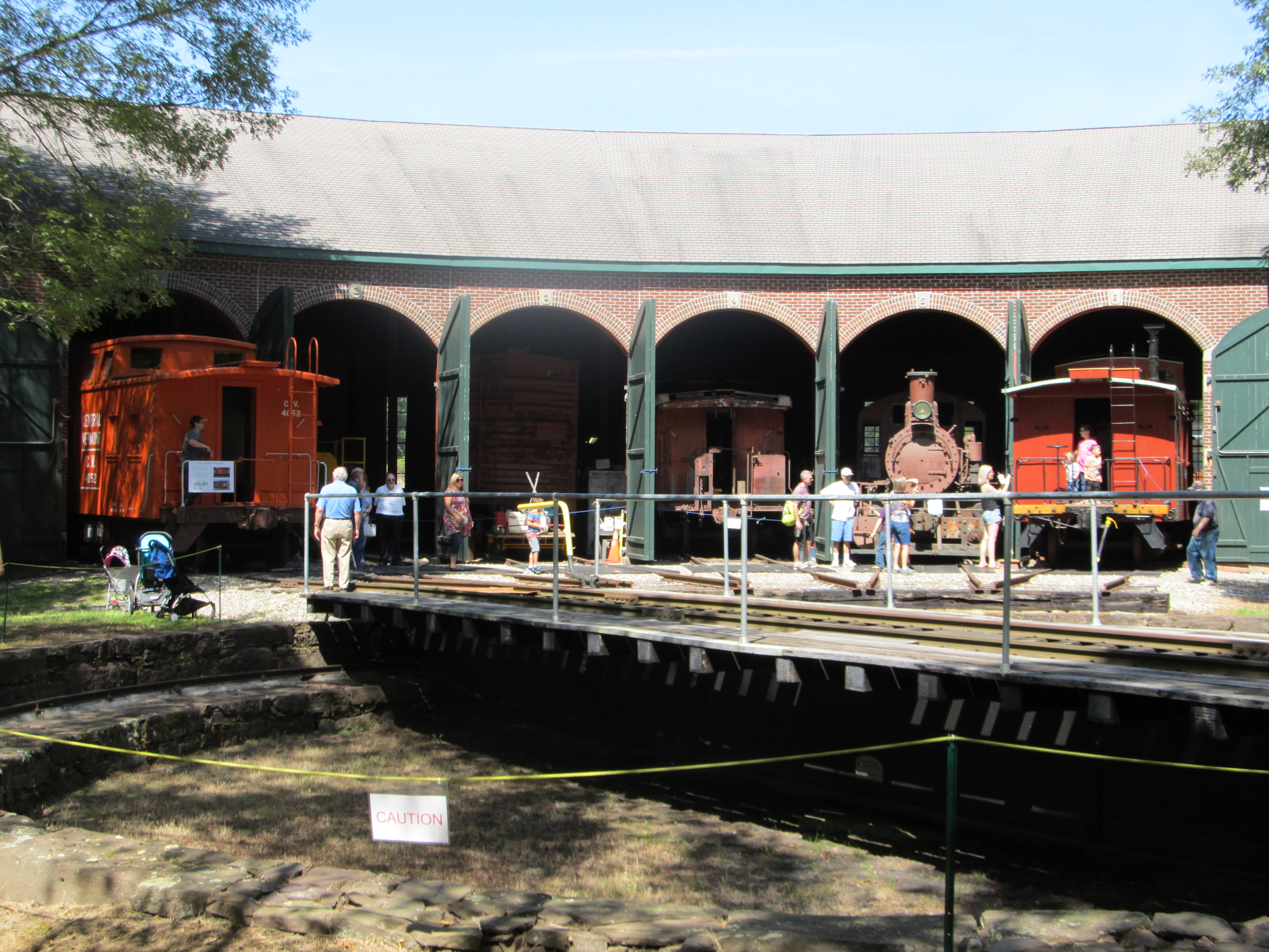 CERM roundhouse with visitors